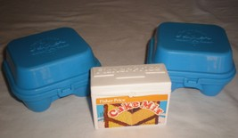 2 fisher price vintage blue egg cartons 1987 & ... - $14.00