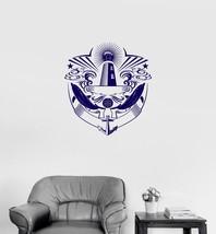 Vinyl Decal Dolphins Lighthouse Ocean Marine Nautical Sea Wall Stickers ... - $18.69 - $64.50