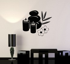 Vinyl Decal Spa Candle Basalt Stones Beauty Salon Relax Wall Stickers (i... - $23.91 CAD+
