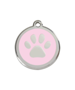 SMALL Light Pink Paw Print Pet Tag ID Dog Cat A... - $14.49