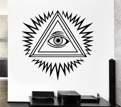 Wall Decal Freemason Freemasonry Eye of Providence Vinyl Stickers Art (i... - £14.63 GBP+