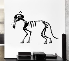 Wall Decal Skeleton Cat Fish Art Animal Skull Death Mural Vinyl Stickers... - €16,80 EUR+