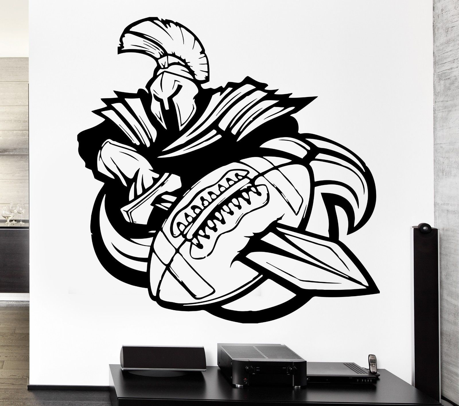 wall decal sport american football rugby ball warrior rugby gifts shop and rugby gifts store supplying unique