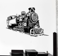 Wall Decal Train Railway Decor for Kids Room Vinyl Stickers (ig2834) - $20.56+
