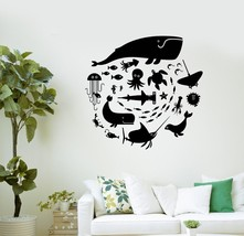 Wall Decal Whale Octopus Fish Marine Animals Bathroom Vinyl Stickers (ig... - £14.63 GBP+