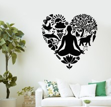 Wall Decal Yoga Healthy Lifestyle Nutrition Love Vinyl Stickers (ig2983) - $20.49+