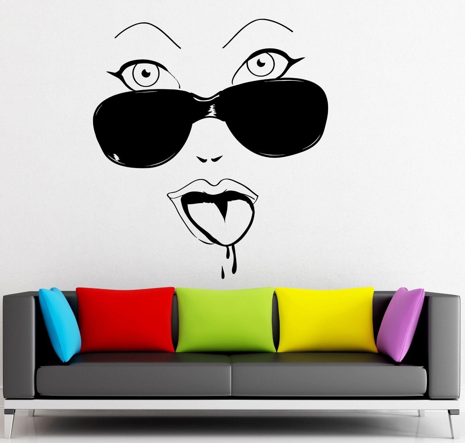 Wall Sticker Vinyl Decal Hot Sexy Girls Glasses Cool Decor ...
