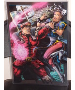 Street Fighter M Bison vs Chun Li Glossy Print 11 x 17 In Hard Plastic S... - $24.99