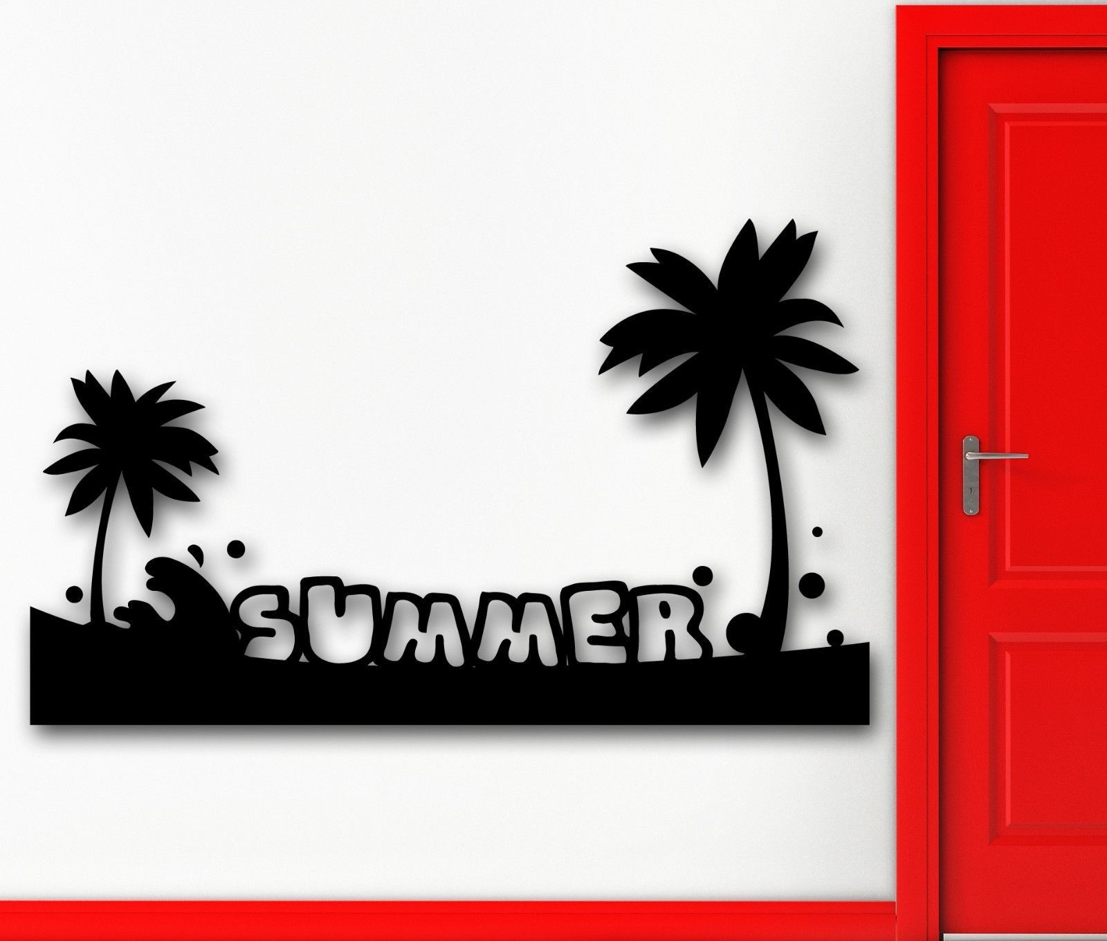 Wall Sticker Vinyl Decal Summer Tropical Palm Beach Relax