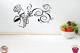 Wall Stickers Vinyl Decal For Kitchen Chef Cook... - $28.04