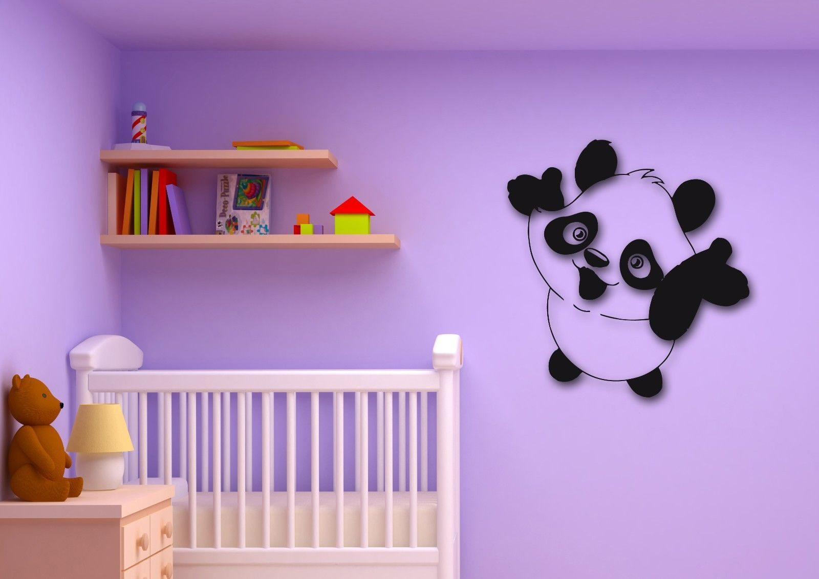 Wall stickers vinyl decal panda cute animal for kids room for Animal room decoration games