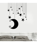 Wall Vinyl Decal Romantic Bedroom Stars Moon Cool Kids Decor z3681 - ₨1,275.49 INR+