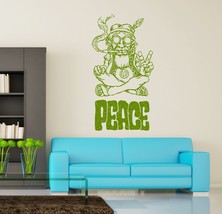 Wall Vinyl Hippie Peace Marihuana Weed Smoking USA Flag (z3399) - £10.64 GBP+