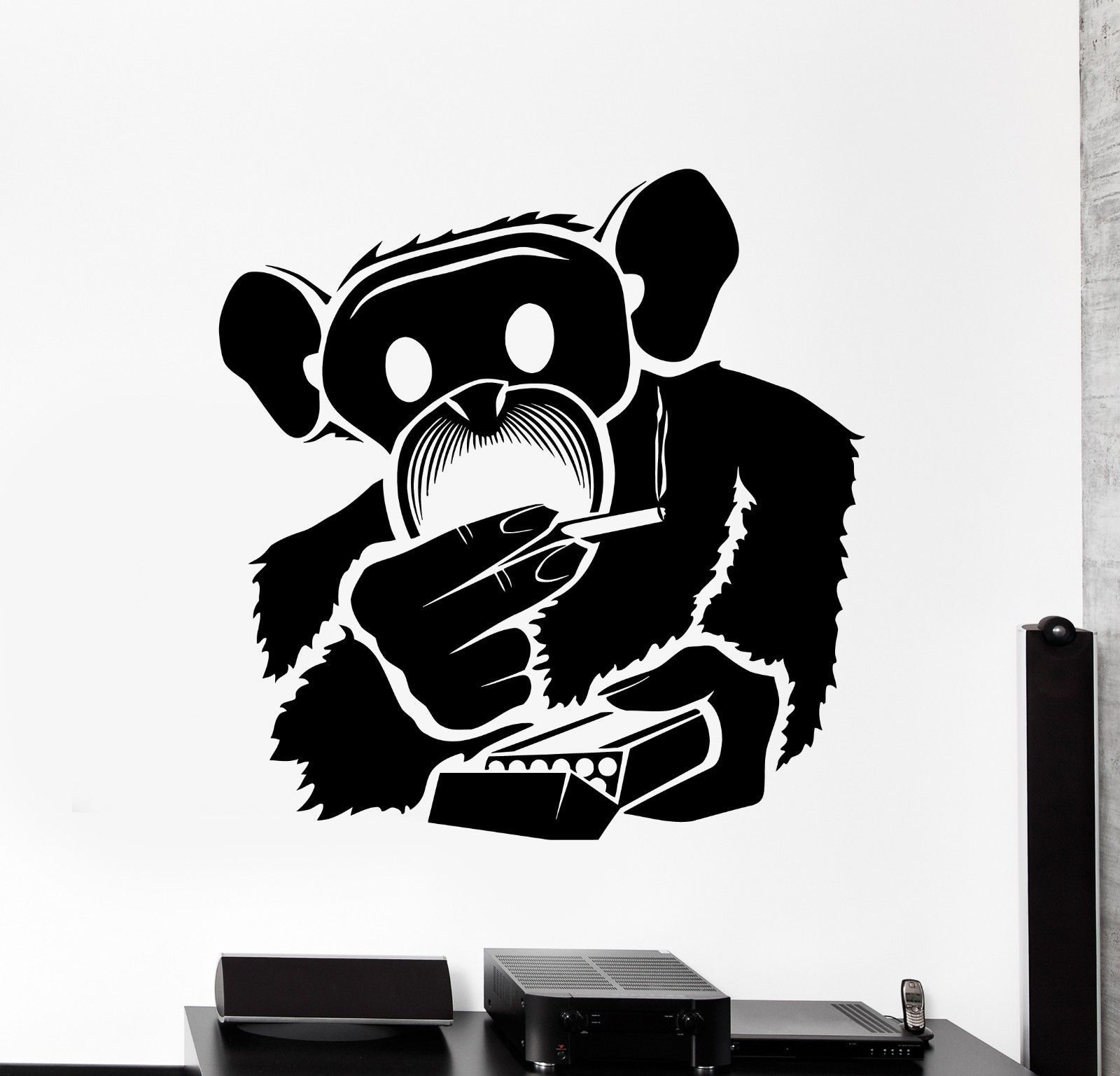 Wall Vinyl Marihuana Funny Monkey Smoking Weed Decal