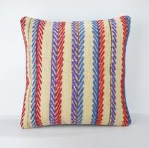 multicolor pillow kilim pillow case,arastabazaar kilim pillow,arastabazaara 18'' - $55.00