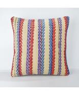 multicolor pillow kilim pillow case,arastabazaar kilim pillow,arastabaza... - $55.00
