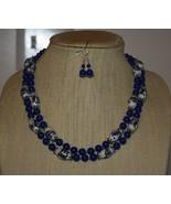 Traditonal Blue & White Chinese Porcelain & Lapis Lazuli Necklace & Earr... - $42.00