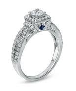 1 CT Simulated Diamond Frame Split Shank Engagement Ring 14K White Gold ... - $208.79
