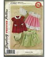 Simplicity #2392 Babies Dress and Bonnet with E... - $8.00
