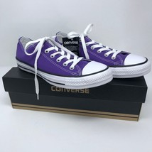 New Converse Womens 8.5 Classic Low Top Sneakers Electric Purple Unisex ... - $46.44