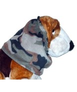 Green Brown Black Khaki Woodland Camouflage Fleece Camo Dog Snood Size S... - $11.50