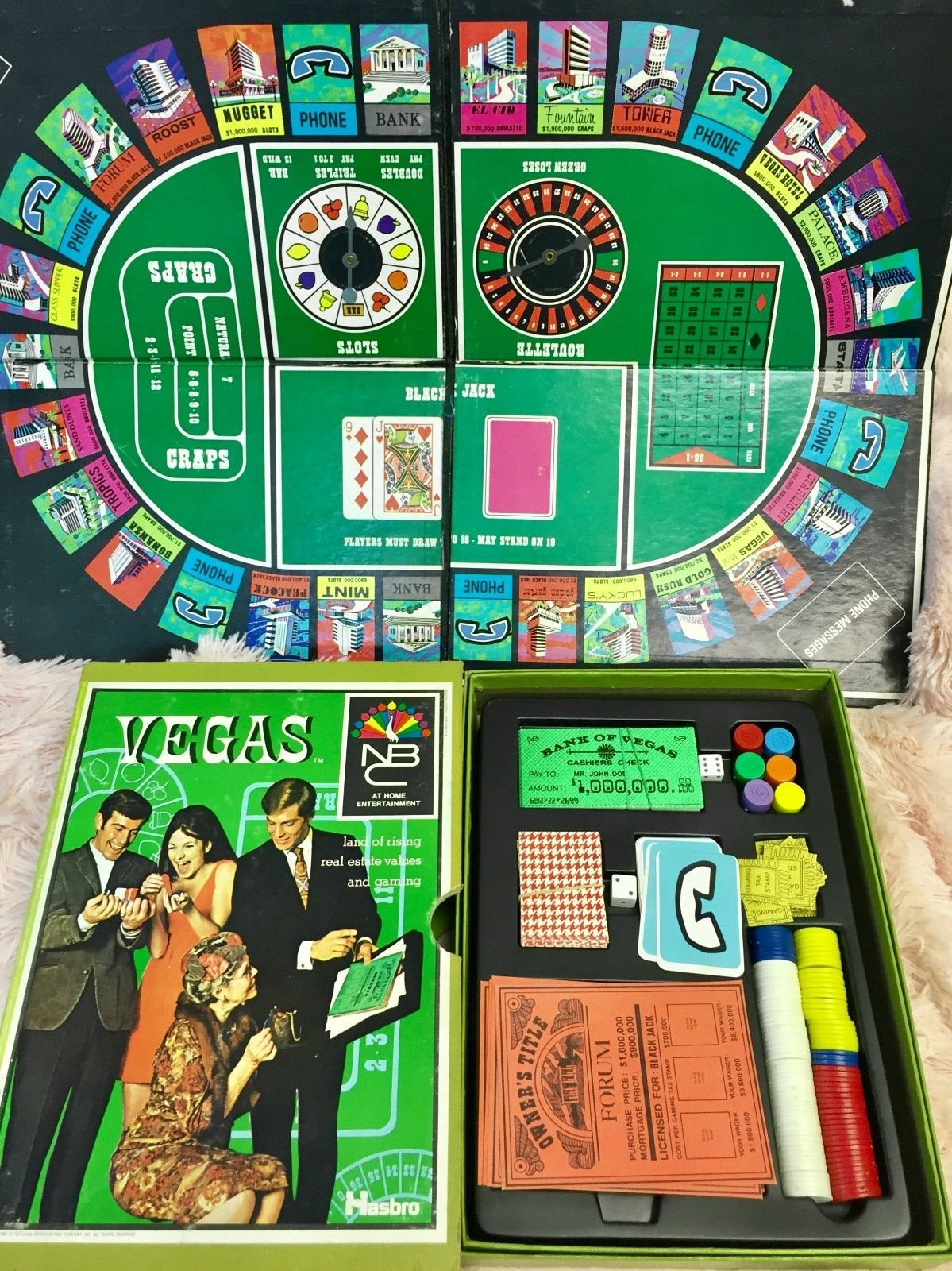 Vintage 1969 Vegas Real Estate Board Game And 15 Similar Items