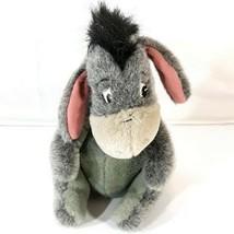 Disney World Parks Plush Eeyore Bean Bag Gray Mauve Bow Pooh Stuffed Animal Toy  - $8.95