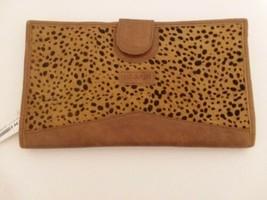 Jane Marie Leather animal print large Wallet - $27.19