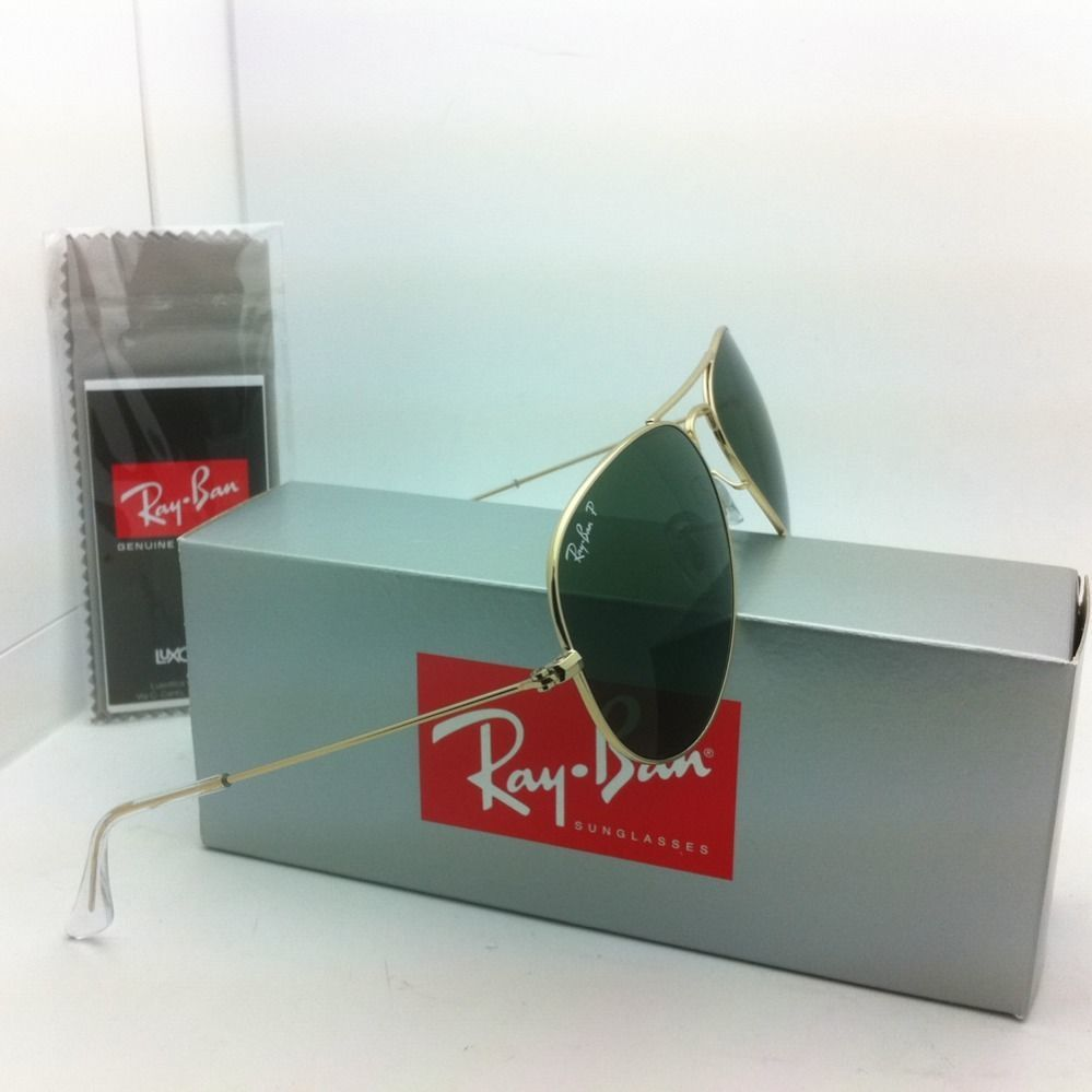 3d6de5c825 Polarized RAY-BAN Sunglasses LARGE METAL RB 3025 001 58 55-14 Gold
