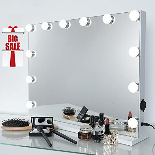 Primary image for iCREAT Hollywood Makeup Mirror, Lighted Vanity Mirror, Cosmetic Mirror with 12 D