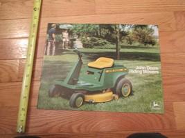 John Deere Riding mowers Vintage Dealer sales brochure 9 - $15.99