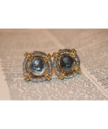 Erwin Pearl Vintage Clipon Earrings Gold and Silvertone Spanish Coin - $49.99