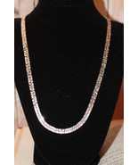 Vintage Silvertone Necklace with unique texture... - $9.99