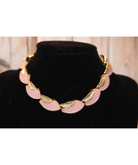 Vintage Thermoset Pink Lucite and Silver Tone L... - $24.99