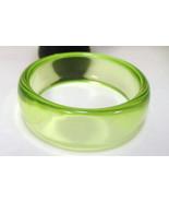 Clear Lime Green Funky Vintage Bangle Bracelet - $6.99
