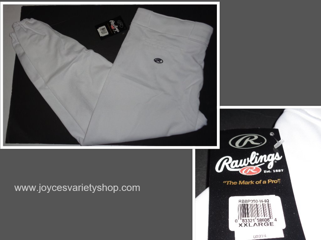 Rawlings white baseball pants collage