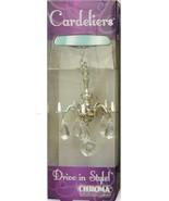 Decorative Mini Chandelier w/ Crystals Rear View Mirror Ornament Car Acc... - €12,24 EUR