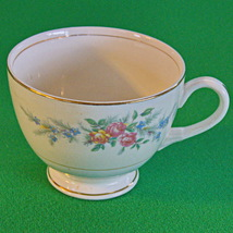 Beautiful Unmarked Floral Footed Teacup (no saucer) - $2.95