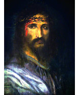 Religious 8x10 The Crown of Thorns Jesus Canvas Wall Art  - $19.00