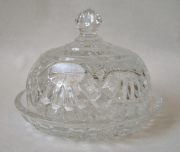 Shannon Clear 24% Lead Crystal Covered Butter Cheese Dish Designs Irelan... - $48.00