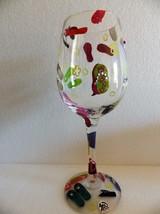 "Lolita ""Flip Flop"" Wine Glass with Recipe Sandals Beach Rhinestones - $23.76"