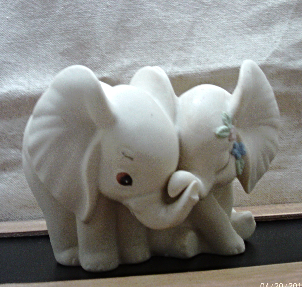 Vintage Bisque Porcelain HOMCO Elephant and 17 similar items