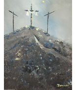 """Original 24x36 Jesus Canvas Wall Art """"The Day After"""" - $219.00"""