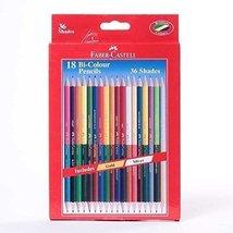 Faber-Castell Bi-Colour Pencil - 36 Colours (Pack of 18) - Styledivahub  - $32.98