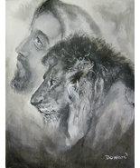 "Original 24x36 Jesus Canvas Wall Art ""Christ The Lion Of Judah"" - $219.00"