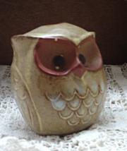 Vintage Terra Cotta Owl Candle Holder // Taper Candle Holder // Pen Holder - $8.50