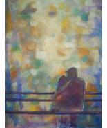 Original 24x36 Walk in The Rain Romance 3 Canvas Wall Art - $219.00