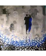 Original 24x36 Walk in The Rain Romance 5 Canvas Wall Art - $219.00