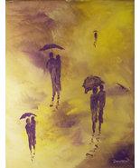 Original 24x36 Walk in The Rain Romance 6 Canvas Wall Art - $219.00