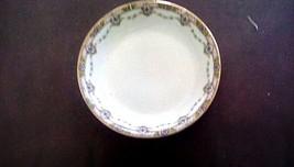 Limoges France Legrand Soup Bowl Gilt Trim Rimmed Art Deco Garland - $24.50